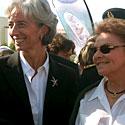 Photo  de Photo: ubacto - Christine Lagarde et Annette Roux - Grand Pavois La Rochelle sept. 2005