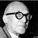 Photo  de ©  DR portrait de Le Corbusier