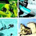 Photo  de �  montage - zoom sur l'affiche du Triathlon de La Rochelle 2012 - 23 et 24 juin