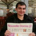 Photo  de ©  photo uabcto.com : Clément Barailla, candidat Nouvelle Donne Européennes 2014