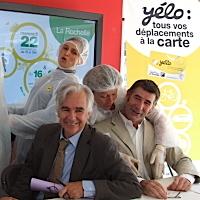 Photo  de © photo ubacto.com - Maxime Bono, maire de La Rochelle,  Denis Leroy, adjoint et les Dr Yélo !