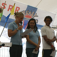 Photo  de © photo presse SSR : ouverture World Laser Championships, La Rochelle juillet 2011