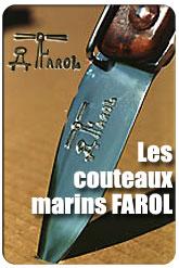 Couteaux Farol, couteaux de marins à La Rochelle, Charente-Maritime (17)