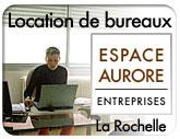 Vers Espace Aurore à La Rochelle :  location de bureaux à La Rochelle