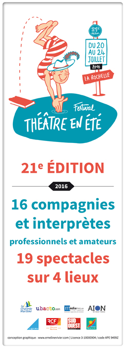 Th��tre en �t� - 21�me �dition du 20 au 24 juillet 2016 !